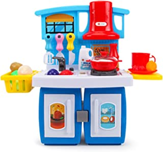 キッズシェフロールプレイングゲーム玩具、変形キッチン玩具セット、シミュレーション照明効果