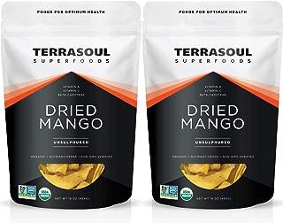 Terrasoul Superfoods Organic Dried Mango Slices, 2 Lbs (2 Pack) - Naturally Sweet & Tart | Healthy Prebiotic