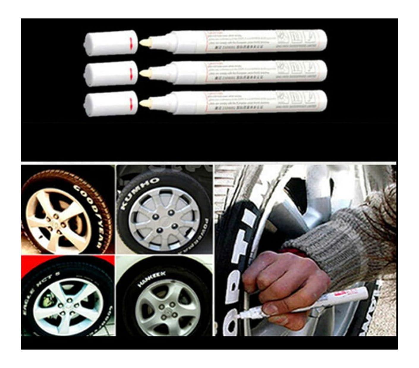 3pc White Paint Pen Marker Waterproof Permanent Car Tire Lettering Rubber Letter