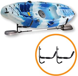 Onefeng Sports Kayak Wall Cradle Kayak Rack Storage Hanger for Garage, Shed, or Any Wall (with Rubber Cover)