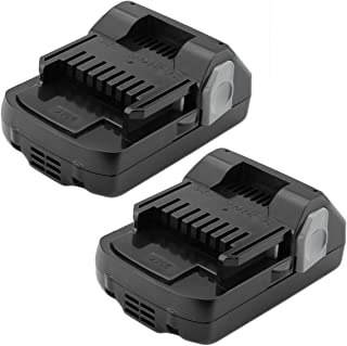 Shentec 2 Pack 3.0Ah 18V Battery Compatible with Hitachi 339782 330139 BSL1815X BSL1830C BSL1815S BSL1830 330557(18V Lithium-Ion Slide Style Battery)