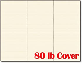 3up 80lb Natural Linen Textured Menu Cards/Connection Cards/Rack Cards (25 Sheets / 75 Pieces)