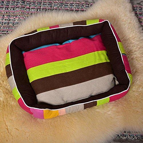 Lozse cojín Caseta para Perros Gamuza de Oxford Tira Colores Grande STUOIA cucciolata Perro canile Gato Mascotas Pet Supplies para Animales para el Perro y Mascotas