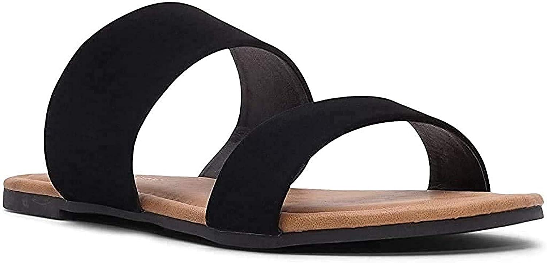 Charles Albert Double Strap Sandals for Women, Comfortable Vegan