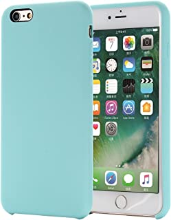 iPhone 6S Plus Case, iPhone 6 Plus Case,Alkax Slim Silicone Liquid Rubber Thin Protective Phone Case Soft TPU Bumper with Microfiber Cloth Lining Cushion Shockproof Cover for Apple iPhone 6S Plus-Teal