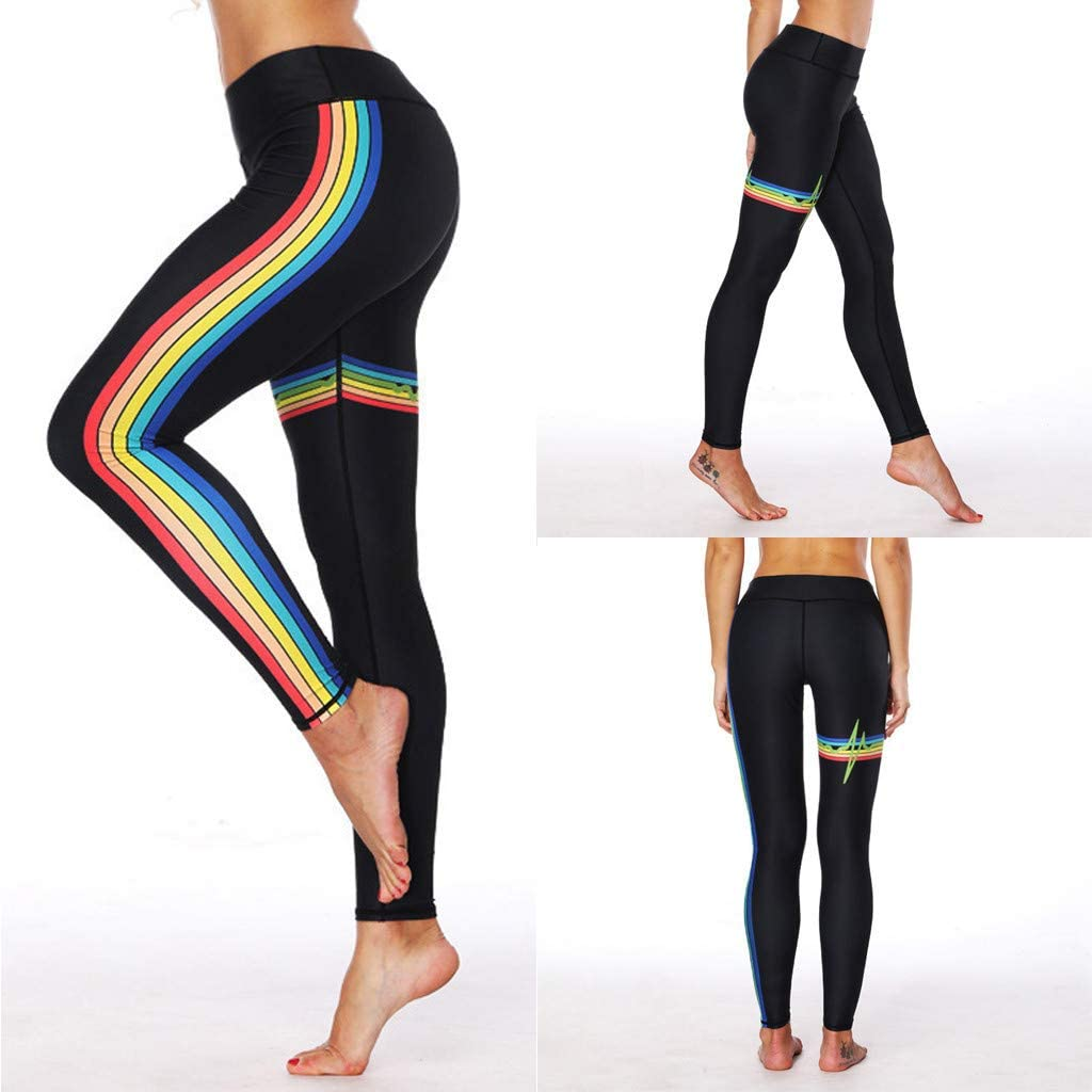 Tummy Control+Turnup Hips Women/'s High Waist Seamless Leggings Ankle Yoga Pants Running Workout 4 Way Stretch Tights