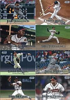 2019 Topps Stadium Club Baseball Atlanta Braves Team Set of 16 Cards: Touki Toussaint(#3), Josh Donaldson(#4), Kyle Wright(#6), Fred McGriff(#16), Freddie Freeman(#27), Ender Inciarte(#40), Bryse Wilson(#49), Mike Foltynewicz(#50), Hank Aaron(#54), Ronald Acuña Jr.(#56), Chipper Jones(#78), Dansby Swanson(#82), Eddie Mathews(#90), Ozzie Albies(#97), Dale Murphy(#98), Warren Spahn(#205)