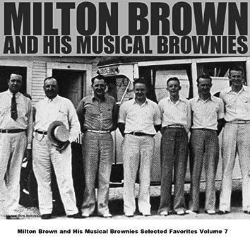Milton Brown and His Musical Brownies Selected Favorites Volume 7