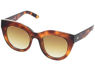 Le Specs Air Heart (Toffee Tortoise/Brown Gradient) Fashion Sunglasses