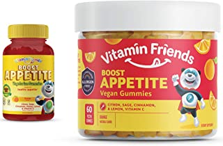 Sponsored Ad - Vitamin Friends All Natural Vegan Children's Appetite Stimulant and Weight Gainer with Boost Appetite Gummi...
