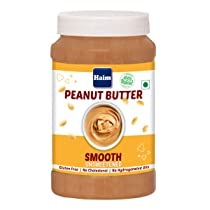 HAIM All Natural Peanut Butter Smooth (Unsweetened) (Vegan, Gluten Free, Non-GMO ) (Smooth, 1 Kg)