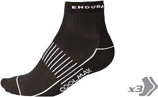 Endura Womens Coolmax Race Cycling Sock (Triple Pack) Black, OS