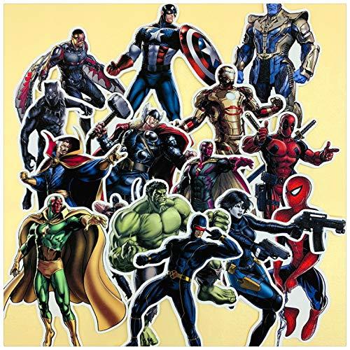 ZWANG Confezione di Adesivi Conto a Mano 15 Avengers Into The Marvel Diario di Decorazione Adesivi Conto a Mano