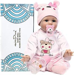 fcb91707 Muñecas de bebé de 56 cm, calidad realista, hechas a mano bebé, vinilo