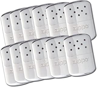 Zippo 4 Set Refillable Deluxe Chrome Hand Warmer w/ Pouch