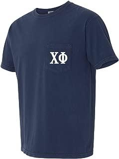Chi Phi Fraternity Comfort Colors Pocket T-Shirt