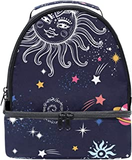 Mydaily Kids Lunch Box Funny Galaxy Doodle Reusable Insulated School Lunch Tote Bag