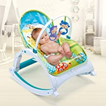 OKBOP Baby Rocker Chair Infant to Toddler, Bouncer Seat for Babies, Boy Girl Activity Center with Hanging Toys, Portable M...