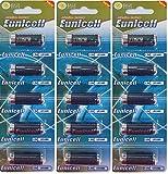 15 pilas alcalinas LR1/N/Lady de 1,5 V (3 blísters de 5 pilas) AM5, UM5 4001, 4901, MX9100, 910A EinWEG Markenware Eunicell