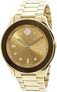 Movado Women's Swiss-Quartz Watch with Gold-Plated-Stainless-Steel Strap, 19 (Model: 3600416)
