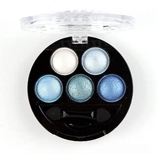 Mallofusa Portable 5 Colors Eye Shadow Palette Trendy Eyeshadow Powder Glitter Makeup Metallic Shimmer Charming Highlight Look (Ice Age) 4.7oz