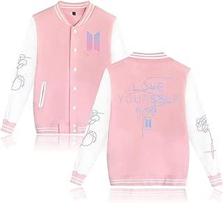 Dolpind Kpop BTS Love Yourself Tear Varsity Baseball Jacket Overcoat Hoodie Sweater