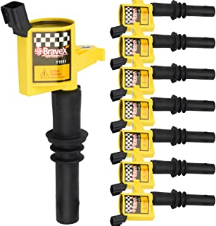 High Performance Pack of 8 Straight Boot Ignition Coils for Ford Lincoln Mercury V8 V10 4.6l 5.4l 6.8l Compatible with DG511 C1541 FD508