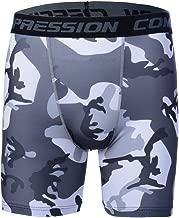 Rera Herren Camouflage Shorts Elastische Trainingshose Slim Fit Sportshorts Gym Strumpfhose