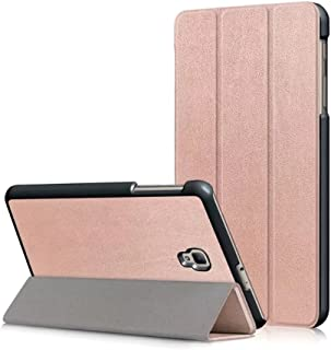 Samsung Galaxy Tab A 8.0 case for SM-T380/T385 2017 Model - ZAOX Leather Slim Light Smart Cover Stand Hard Shell Case for 8.0 Inch Galaxy Tab A Tablet T380 T385 (rose gold)