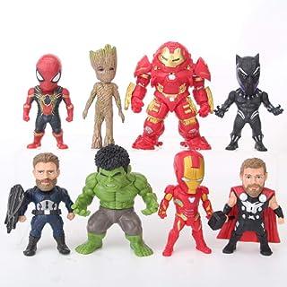 Modelo De Animeavengers Infinity War Hulkbuster Ironman Thor Capitán American Spiderman Black Panther Hulk Figura Juguetes 8Pcs / Set 9-11Cm