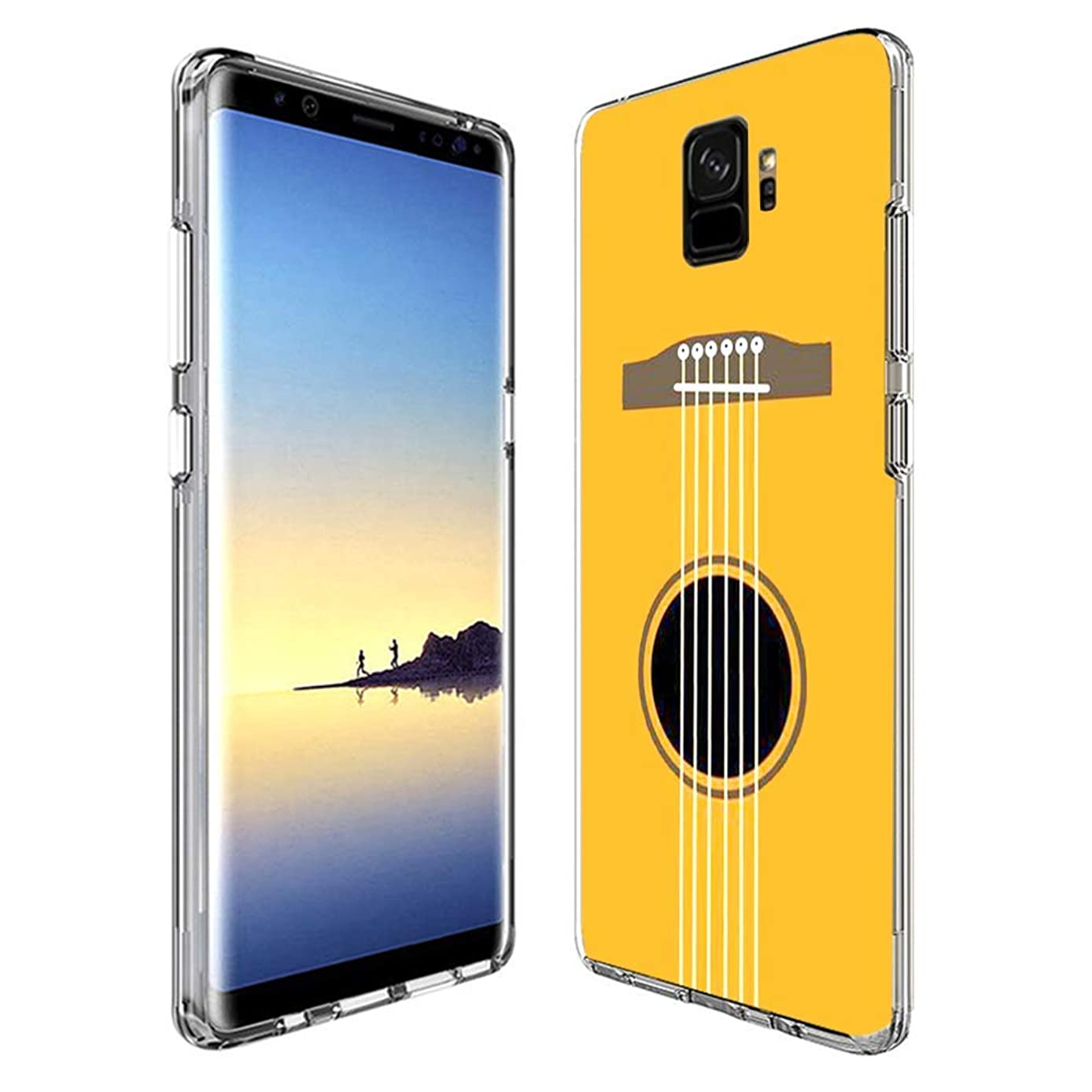 Creative Designs Guitar Strings Crystal Transparent Anti-Scratch Phone Case for Samsung Galaxy S9 Plus