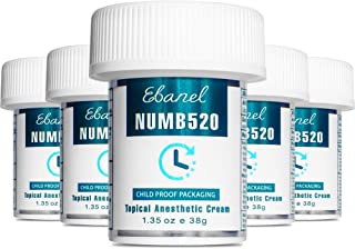 Sponsored Ad - Ebanel 5% Lidocaine Topical Numbing Cream Maximum Strength, 5-Pack of 1.35 Oz, N520 Pain Relief Cream Anest...