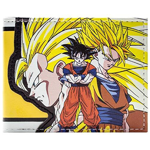 Cartera de Dragon Ball Z Goku súper Saiyan Amarillo