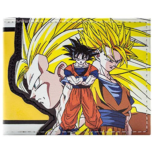 Dragon Ball Z Goku Super Saiyan Portemonnaie Geldbörse Gelb