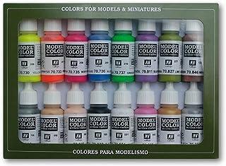 Vallejo val899Peinture Model Color Wargames (Film) spécial peinture acrylique–couleurs assorties (Lot de 16)