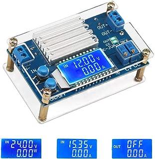 ICStation DC-DC Adjustable Buck Converter 5.3V-32V to 1.2V-32V 12A Voltage Regulator Step Down Module LCD Digital Voltmeter Ammeter with Shell