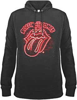 Amplified Clothing The Rolling Stones 'Neon Sign' (Slate) Pull Over Hoodie