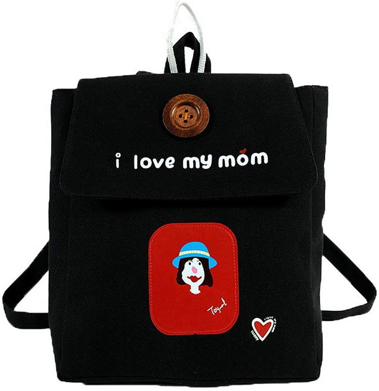 AmoonyFashion Women's Ornamented Dacron Casual Canvas Shoulder Bags,BUTBS212138,Black