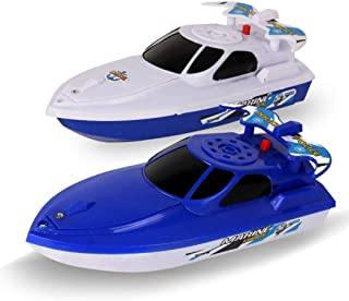 FunPa Electric Boat Toy Battery Powered Bath Toy Shower Toy Floating Boat Toy for Toddler