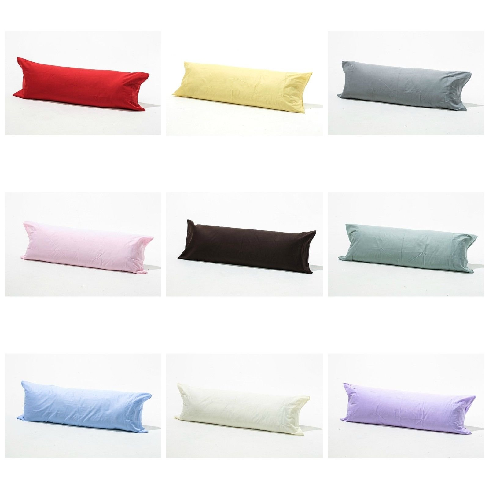Luxury Orthopaedic 3ft Cotton Blend Bolster Body Pillow Long Support Made in the UK SINGLE Bed Hollowfibre Filled