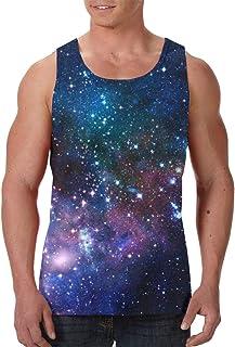 FANTASY SPACE Men's Boys Crewneck Sleeveless Undershirt Sportswear for Exercise Training