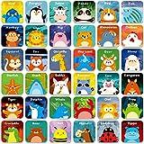"Hebayy 36 Pair Animals Matching Game Cartoon Flash Cards Erasable(72 PCs, Each Measures 2"" X 2"")"