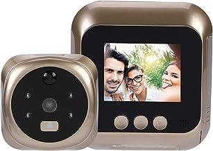 2.8 Pulgadas HD LCD Timbre Inteligente Cámara Casera de Mirilla, Ojo de Gato Electrónico con Visión Nocturna Por Infrarrojos, Detección de Movimiento y Lente Gran Angular de 135 Grados