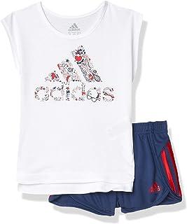 adidas Conjunto de ropa corta y camiseta de manga para niñas