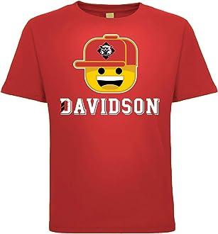 J2 Sport Davidson Wildcats NCAA Youth Short Sleeve Ball Cap Boy T-Shirt