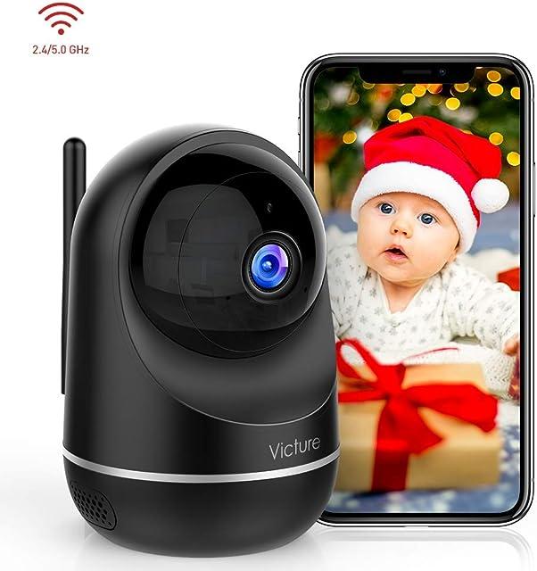 Victure 1080P Dual Band 2.4G 5G Cámara IP WiFiCámara de Vigilancia FHD con Visión NocturnaCámara de MascotaDetección de MovimientoAudio de 2 Vías