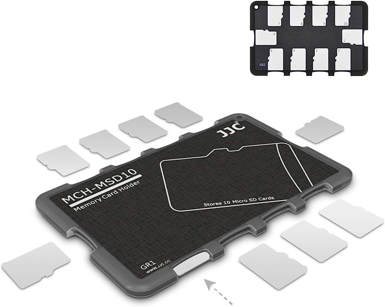 10 Slots Micro SD Card Case Holder Storage Organizer, Ultra Slim Credit Card Size Lightweight Portable TF MSD Memory Card Storage