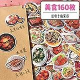DSSJ Agitar el Sonido de la Etiqueta de la Receta de la Comida Etiqueta engomada de la Comida Occidental China Familia DIY Receta de la Comida China Etiqueta de la Cuenta de la Mano de la Comida