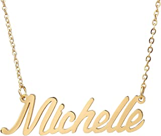 Personalized Custom Name Necklace Script Initial Nameplate Necklace Jewelry for Girls Womens