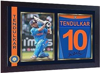 S&E DESING Sachin Tendulkar Cricket Indian Signed Poster Autograph Print Photo Framed